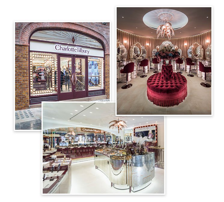 Collage of the Covent Garden Store entrance and interior