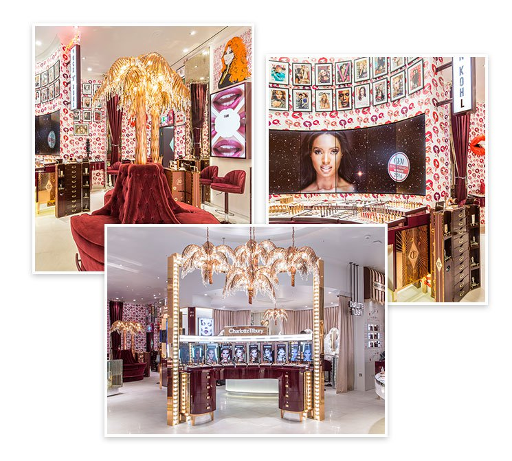 Collage of the Westfield White City store interior