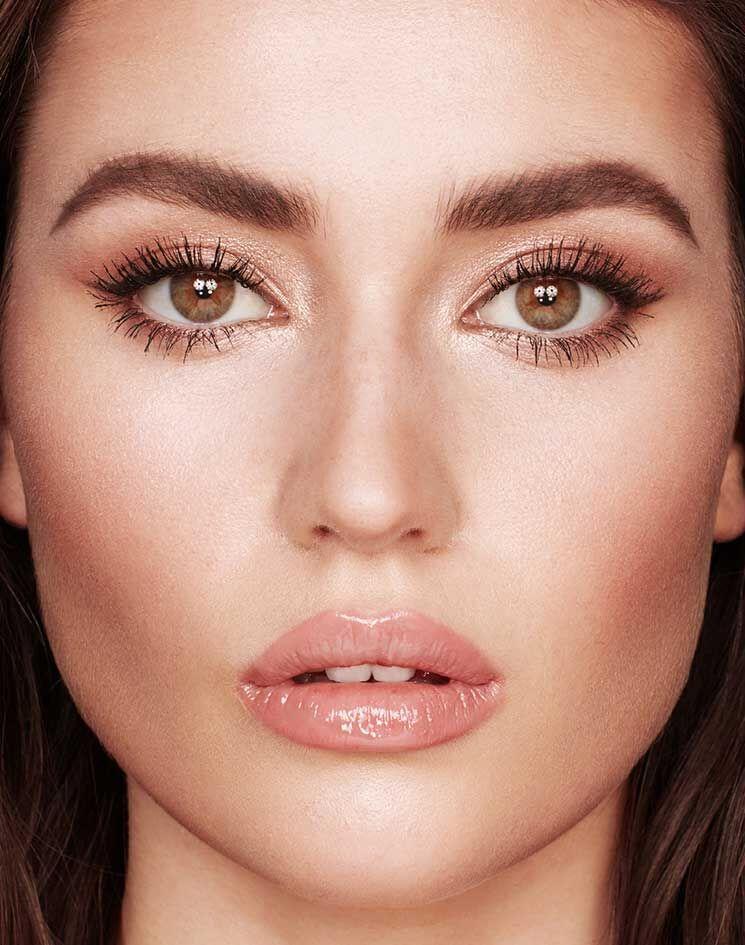 Rose Gold Eyeshadow Palette Exagger Eyes Bigger Brighter Eyes